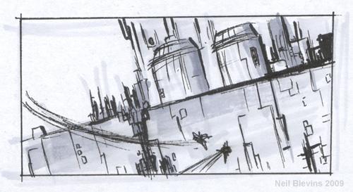 Space Battle II sketch