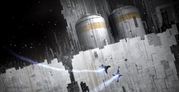 Space Battle II, Photoshop, 3dsmax