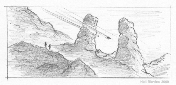 Rock Towers sketch