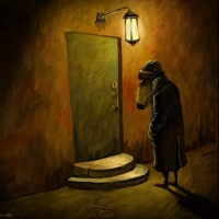 Он, дверь и ...