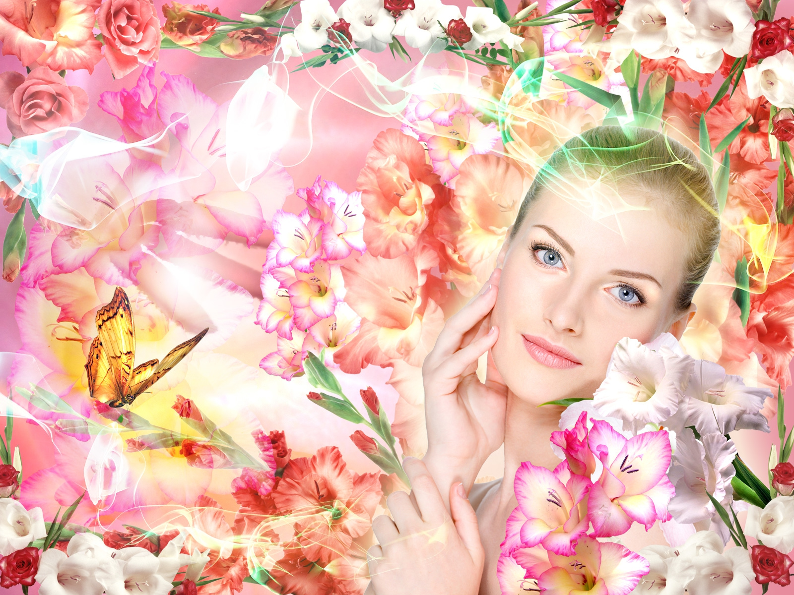 Фото женщины без лица в цветах
