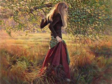 """""""Brigitte sous l´abre"""", 2008"""