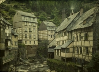 Charles Corbet, View of Montjoie/Monschau (D) - c. 1910, autochrome 9 x 12