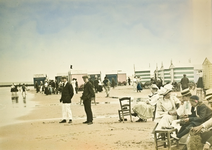 C.Casters, Belgian seaside, c.1910, handcoloured, 13x18cm
