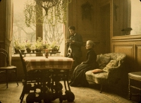 Paul Sano, In the sitting room    c. 1920, autochrome 9 x 12