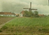 Georges Gilon, Landscape with windmill. Ronse/Belgium  c. 1913, autochrome 9x12