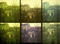 Paul Sano, Scenes of house taken with various filters    c. 1910, autochrome 9 x 12