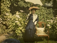 Paul Sano, Portrait of a lady (Mrs. C. Corbet)    c. 1910, autochrome 9 x 12
