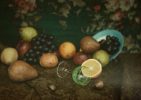 Alfonse Van Besten, Still life with summer fruit    c.1913, autochrome 9x12