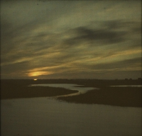 Paul Sano, Sunset on the heath    c. 1910, autochrome 9 x 12