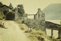 Remi Verstreken, Gandria at Lake Lugano/Switzerland  1909, autochrome 9 x 12