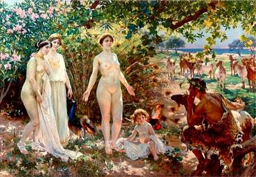 Judgment of Paris. 215 x 331 cm 1904