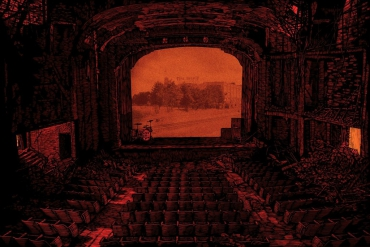 """the black keys - aragon ballroom.""  january 2011.     silkscreen"