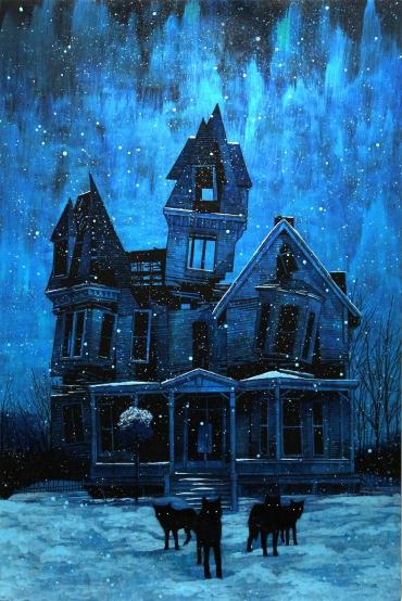 """wet teeth in the darkness.""  october 2011.     original painting"